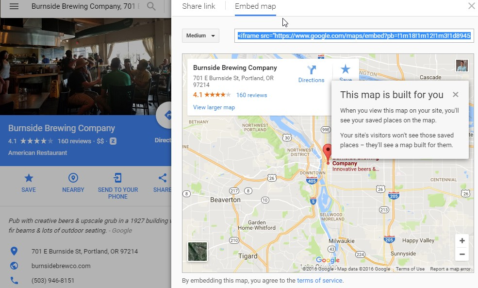google maps SEO breweries